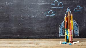 Black board and pencils